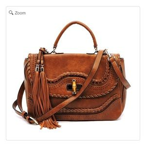 Handbags - NEW Bamboo Twist Lock Satchel